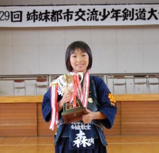 小学生個人優勝の森瑞葵選手