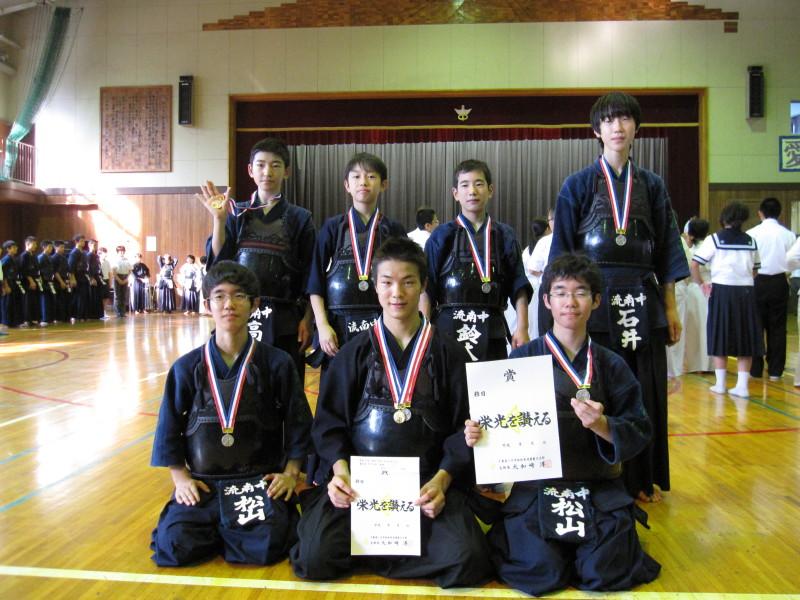 葛北大会男子団体準優勝のメンバー