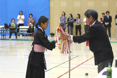市民大会 小学5.6年女子の部表彰