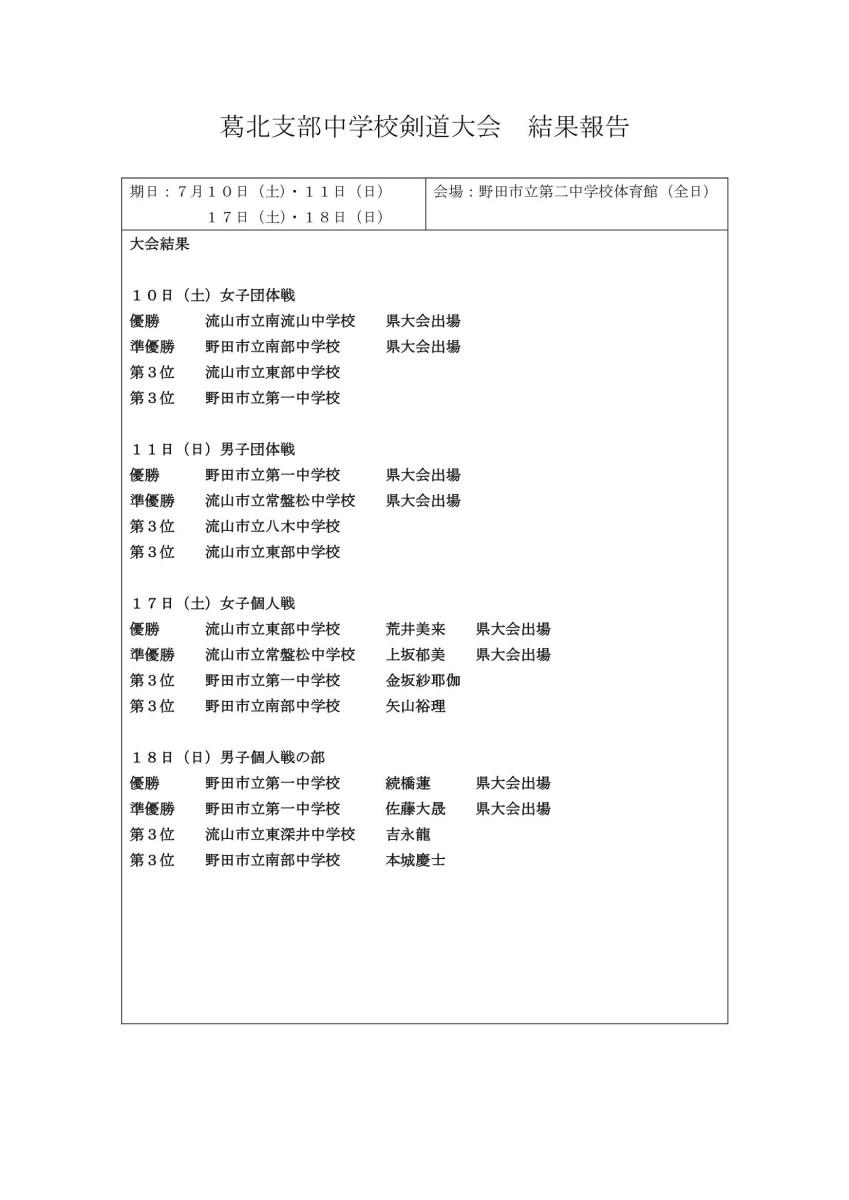 葛北大会結果報告書(連盟用)_0001